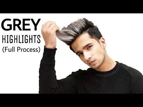 Grey Platinum Highlights On Black Hair Https Youtu Be Lexx7utirfi Black Hair With Highlights Black And Silver Hair Men Blonde Highlights