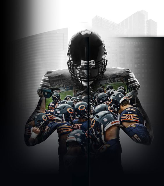 this double exposure art shows a football player, growing up I played football a lot. This is also one of my favorite teams.