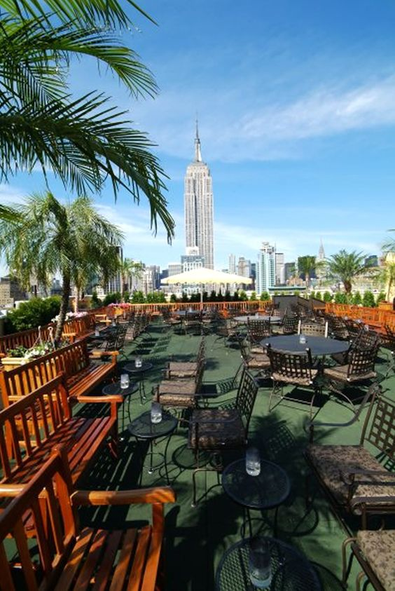 Outdoor Rooftop Garden Restaurant Bar and Lounge 230 Fifth NYC