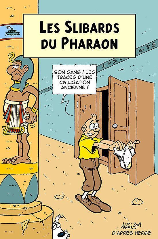 Les Aventures de Tintin - Album Imaginaire - Les Slibards du Pharaon