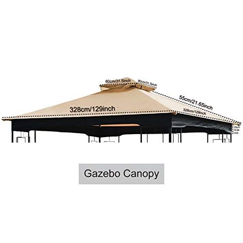 Abccanopy Replacement Of Canopy L Gz724pst B Gazebo Canopy Set Beige Gazebo Canopy Gazebo Canopy