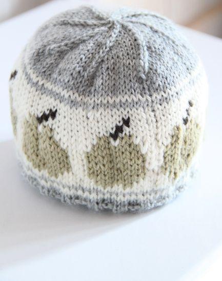 Stricken - Knitting - Apfelmützchen für Neugeborene (in German with charts) - Apple Bonnet for infants - free pattern on blog