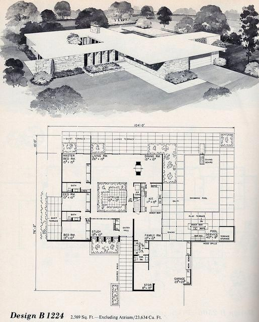 Delightful Photo Go And Visit Our Commentary For Additional Concepts Basementflood Modern Floor Plans Mid Century Modern House Plans Vintage House Plans