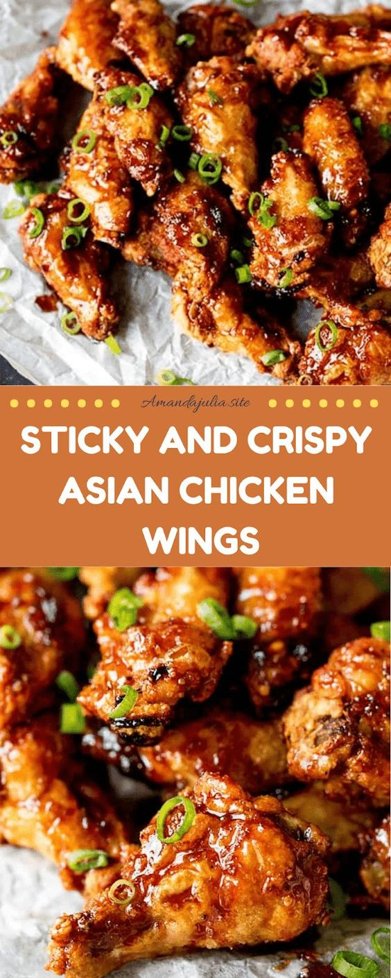 Sticky and Crispy Asian Chicken Wings Recipe
