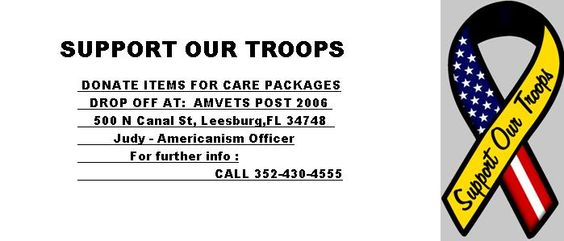 JOIN US AS WE SUPPORT OUR TROOPS  Give us a like on Facebook  www.Facebook.com/Amvetspost2006