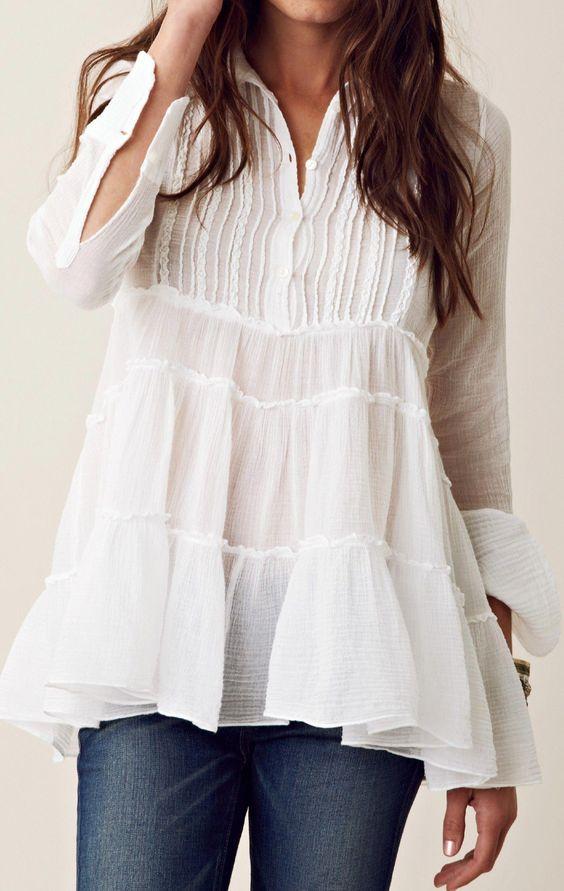 white top #women'sfashionover50stylishclothes