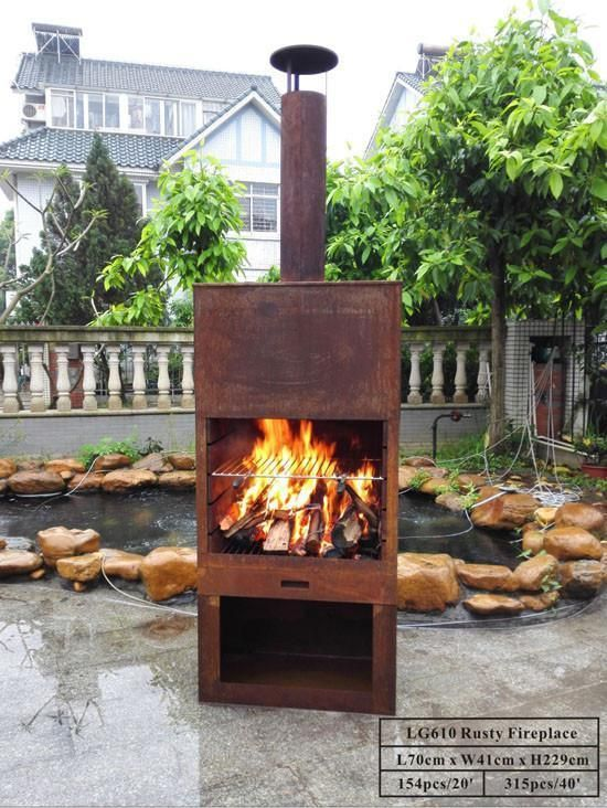 Outdoor Fireplace Free Standing Sturdy Steel Furness Chiminea Flue Cooking Gr Outdoor Fireplace Fire Pit Designs Wood Fireplace