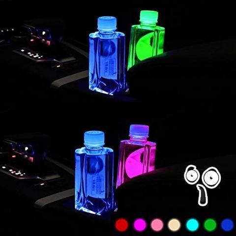 7 Colors Led Changing Car Logo Cup Coaster 2 Pcs Set Chicvoss Cose