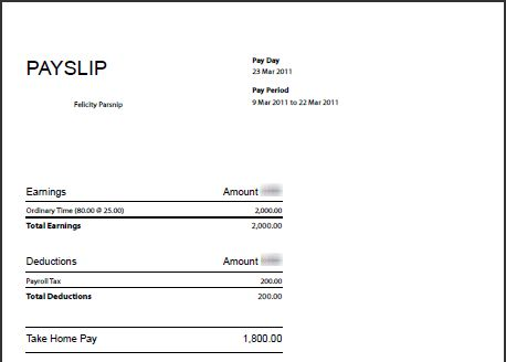 Templates on pinterest for Editable payslip template