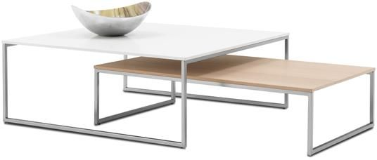 Modern Coffee Tables - Contemporary Coffee Tables - BoConcept Lugo coffee  table, available in different colors. Shown color, white lacquer/brushed