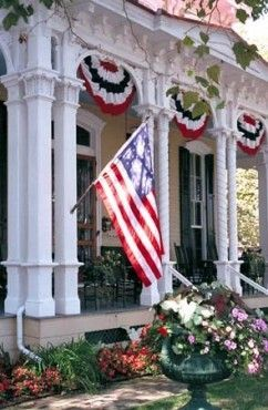 Southern Patriotic Porch !: American Flags Porches Decor, Flags Banners, Fourth Of July