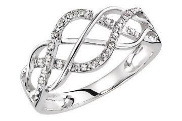 1/10 CARAT DIAMOND 14K WHITE GOLD RING