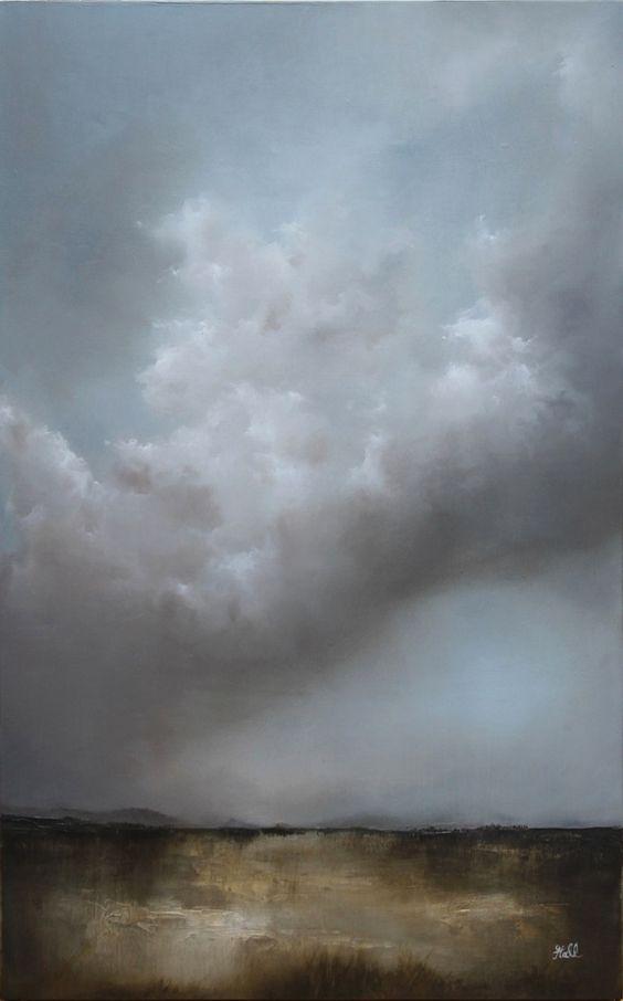 """Feel the Rain"" oil landscape painting by adamhallart.com…"