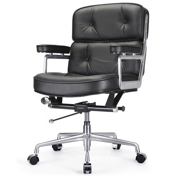 M340 Office Chair in Black Leather