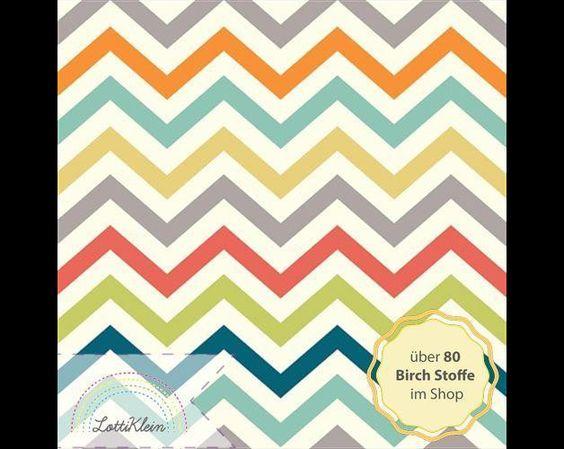 Bio-Stoffe - Birch Fabrics Jersey Just Fun Skinny Chew Stoff - ein Designerstück von LottiKlein bei DaWanda