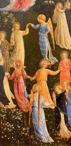 BEATO ANGELICO - Il Giudizio Universale, dettaglio - 1450 - Staatliche Museen, Gemäldegalerie di Berlino