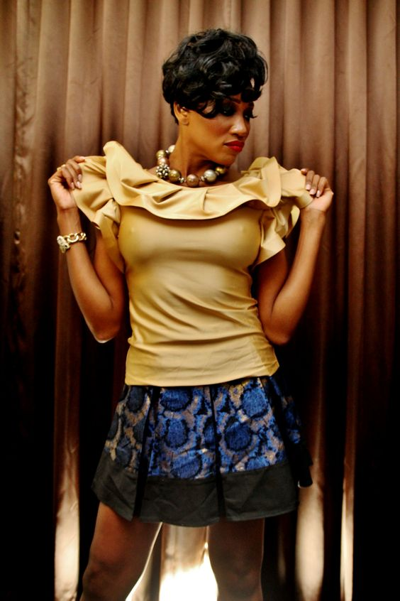 Gold Couture Blouse