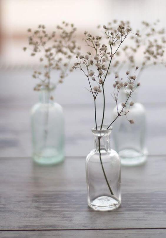 Minimalistisk Bryllup Inspiration Til Minimalistisk Tema Med Billeder Torrede Blomster Dekoration Efterar Bryllup