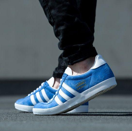 Adidas Gazelle Blue On Feet On The Street Adidas Casual Adidas Gazelle Adidas