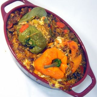 Inspired By eRecipeCards: Italian Stuffed Peppers With Soffritto alla Kansas