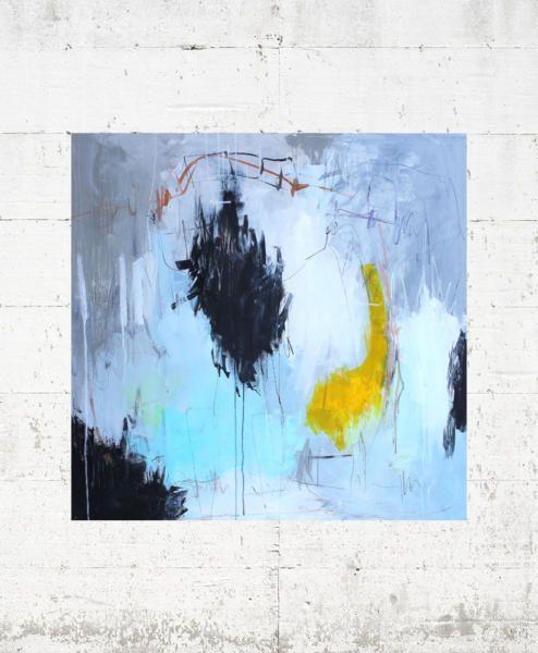 Kaffedate 120x90 Malerier Abstrakte Malerier Akryl Maleri
