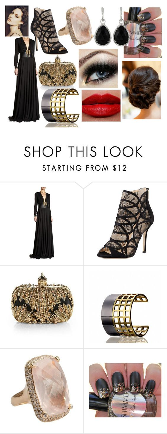 """severine"" by nothing-better-than-a-riddle on Polyvore featuring Yves Saint Laurent, Jimmy Choo, Alexander McQueen, Reed Krakoff, mel and Majolie Collections"