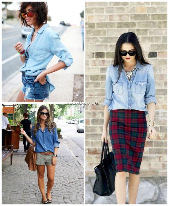 Jeans é o tecido presente de 10 em cada 10 guarda-roupas, seja nas calças, shorts ou jaquetas. E tem mais uma peça que, sinceramente, não dá para ficar sem! A camisa jeans já virou queridinha das mais estilosas por ser prática e combinar com...