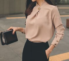 fb02978321b649 Buy Yilda Chiffon Blouse / Cropped Pants at YesStyle.com! Quality products  at remarkable prices. FREE Worldwide Shipping available!