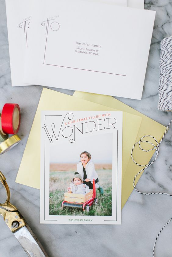 Make it the most wonderful time of year with a Minted holiday greeting card.