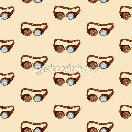 Patrón con gafas steampunk con elementos metálicos en estilo doodle — Vector de stock © Teana.B #111543812