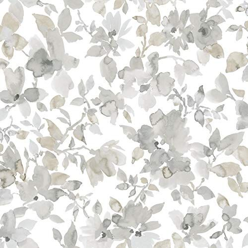 Roommates Neutral Watercolor Floral Peel And Stick Wallpa Https Www Amazon Com Dp B07j4v Watercolor Floral Wallpaper Farmhouse Wallpaper Floral Watercolor