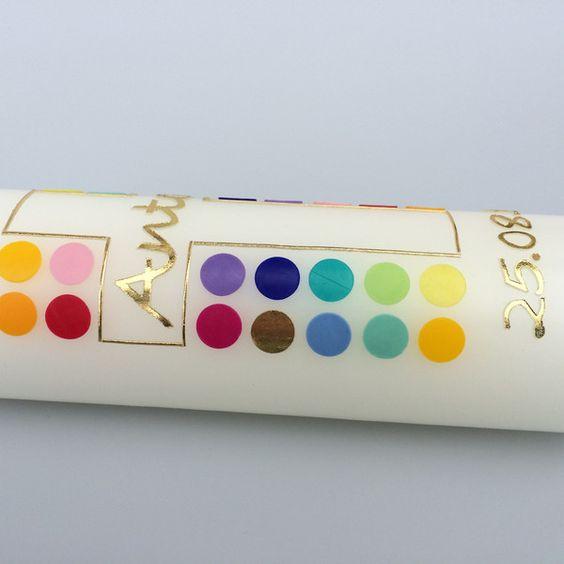 """Taufkerzen - Taufkerze """"Das goldene Kreuz"""" - ein Designerstück von KerzenMax bei DaWanda"""