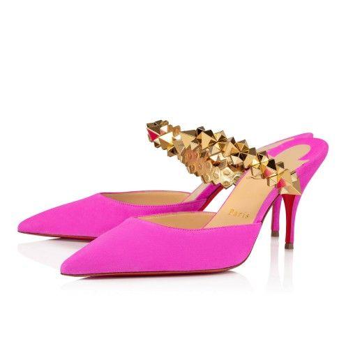 Planet Choc 80 Diva Gold Veau Velours Women Shoes Christian