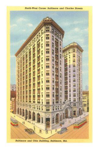 Baltimore & Ohio Building, Baltimore, Maryland Premium Poster