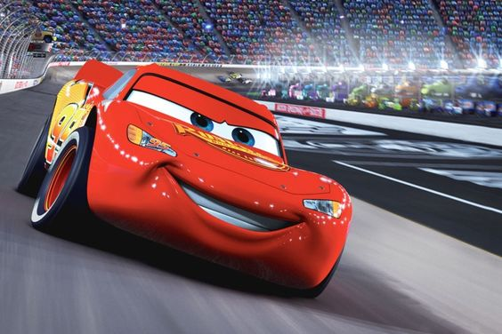 Lightning McQueen from Pixar's Cars, released in 2006
