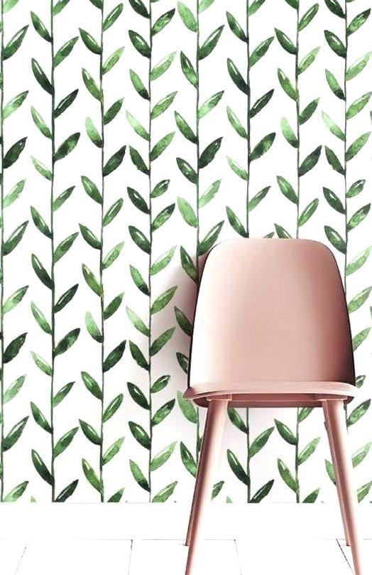 Green Leaf Removable Wallpaper Leaves Self Adhesive Image 1 Green Leaf Wallpaper Removable Wallpaper Leaf Wallpaper