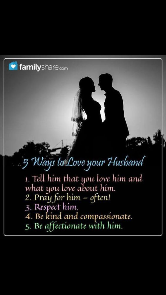 This applies to how a husband should love his wife as well.