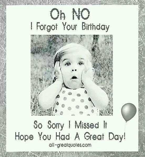 grattis på födelsedagen i efterskott