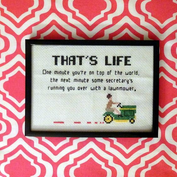 Excellent, excellent cross-stitching project from Etsy, should I ever take up the hobby.