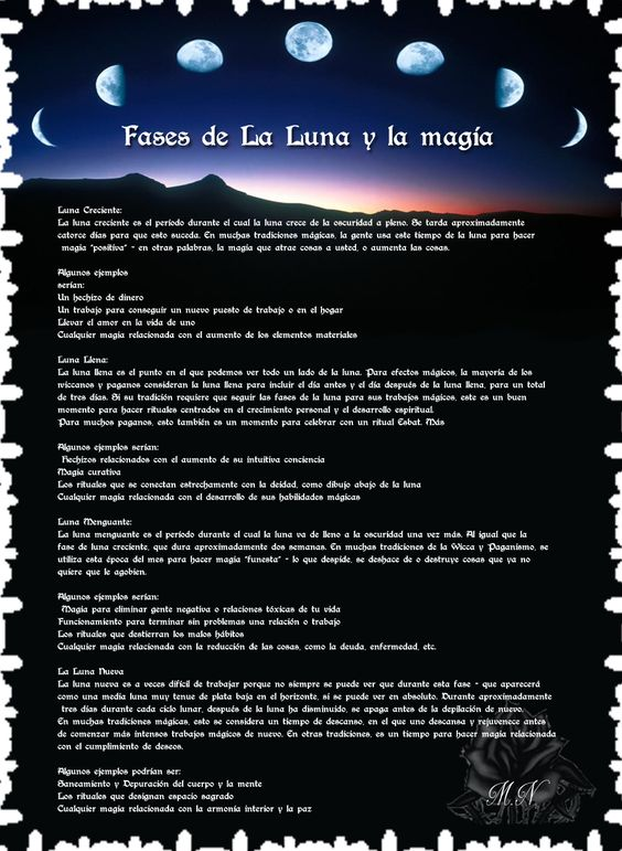 Trastos de Bruja: Fase de la Luna y la Magia