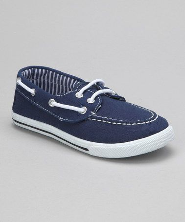 Take a look at this Navy Boat Shoe by Rose Girl on #zulily today!
