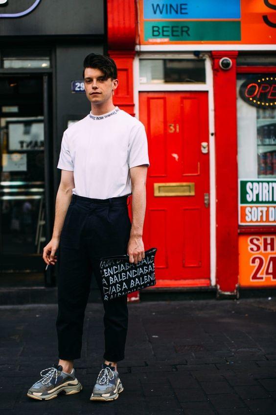 白Tシャツ海外メンズコーデ57 Casual Street Style Outfits for Men - artbrid.com