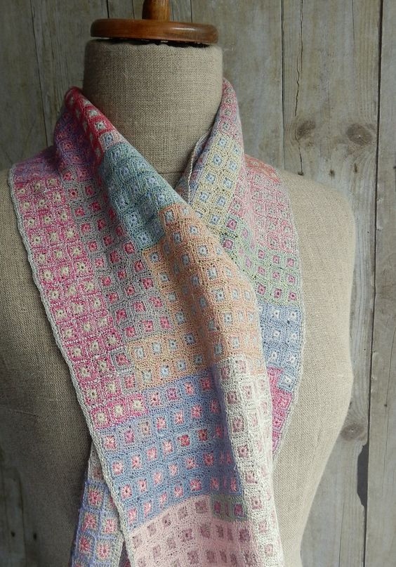 """Biome"" small linen scarf 