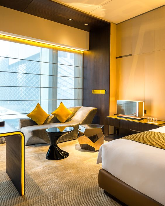 W Hotel, Guangzhou China - The Living Room - Yabu Pushelberg