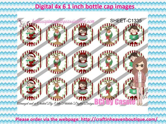 "1"" Bottle caps (4x6) Digital Christmas C1335 Christmas bottle cap images #Christmas #xmas #bottlecap #BCI #shrinkydinkimages #bowcenters #hairbows #bowmaking #ironon #printables #printyourself #digitaltransfer #doityourself #transfer #ribbongraphics #ribbon #shirtprint #tshirt #digitalart #diy #digital #graphicdesign please purchase via link  http://craftinheavenboutique.com/index.php?main_page=index&cPath=323_533_42_56"