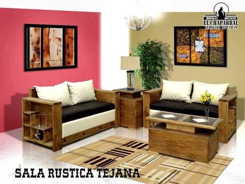 Salas muebles rusticos el chaparral rustic style pinterest for Muebles vanitorios rusticos