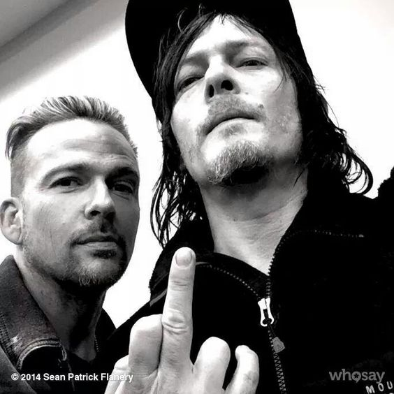 Besties, Sean Patrick Flanery & Norman Reedus. I met these guys quite a few times and they were so cool, sweet and fun!