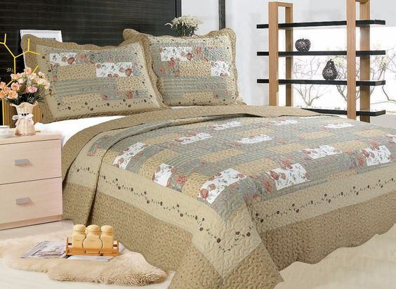 91- All For You 3Pc Quilt Set, Bedspread And Coverlet-4 Sizes Available