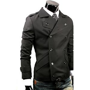 Men's Black Steampunk Jacket This jacket is 10 button, double ...