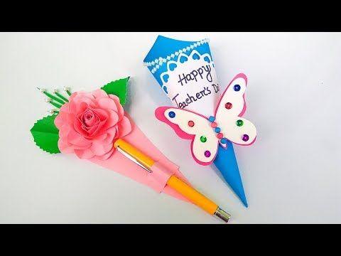 Diy Teacher S Day Gift Card How To Make Teacher S Day Card Youtube Teachers Day Gifts Teachers Day Card Teachers Diy